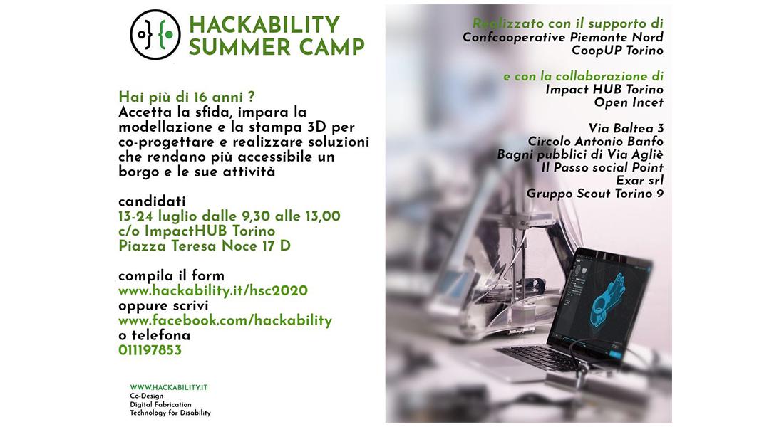 Dal 13 al 24 luglio – A Torino l'Hackability Summer Camp